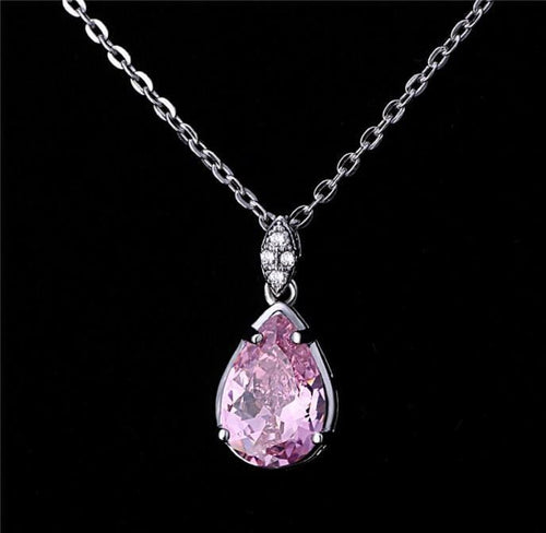 A6FY 925 Sterling Silver CZ Necklace