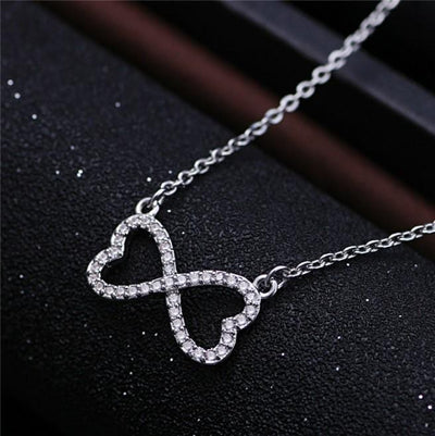 A6ZZ 925 Sterling Silver CZ Necklace