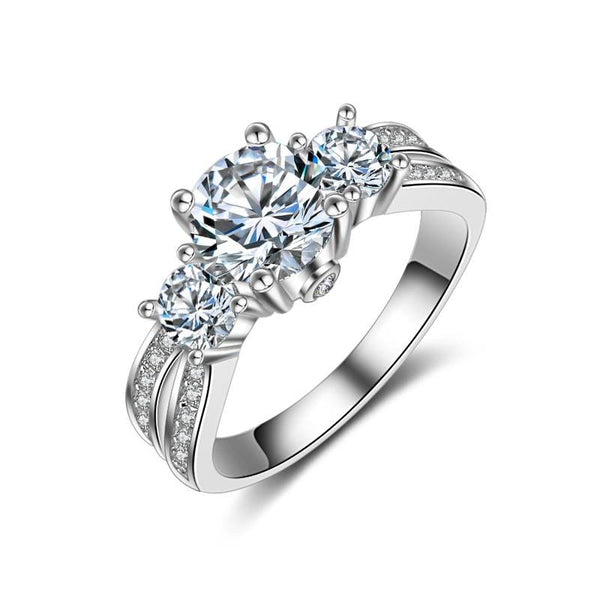 A7WY3 925 Sterling Silver CZ Ring