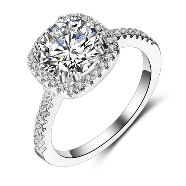 A9RZ7 925 Sterling Silver CZ Ring