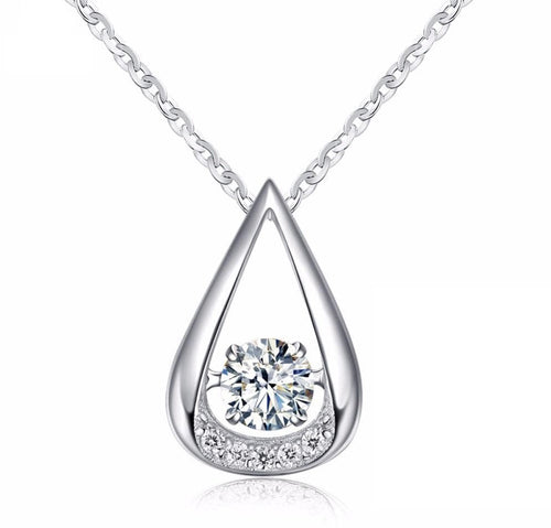 A9U3 925 Sterling Silver CZ Necklace