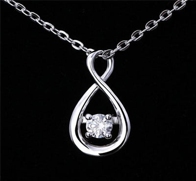 ADP2 925 Sterling Silver White CZ Necklace