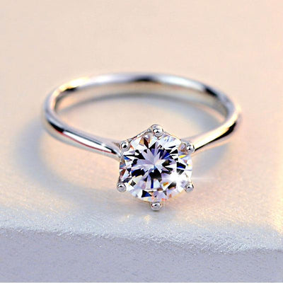 AG4HC 925 Sterling Silver CZ Ring