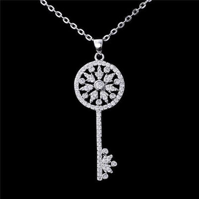 AGZH 925 Sterling Silver White CZ Necklace