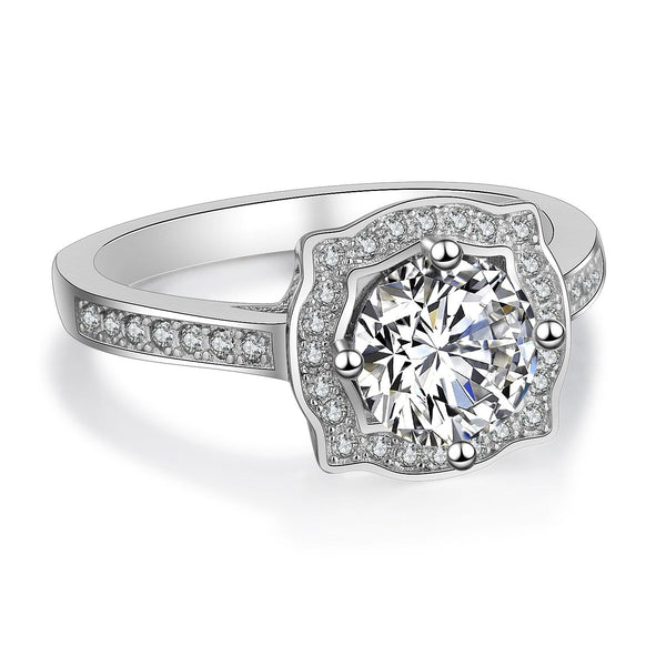 AJPDW 925 Sterling Silver CZ Ring