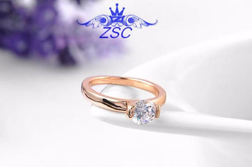 APKV548J 18K Champagne Gold Plated Austrian Crystal Ring