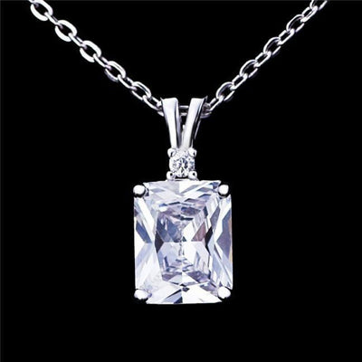APYY 925 Sterling Silver CZ Necklace