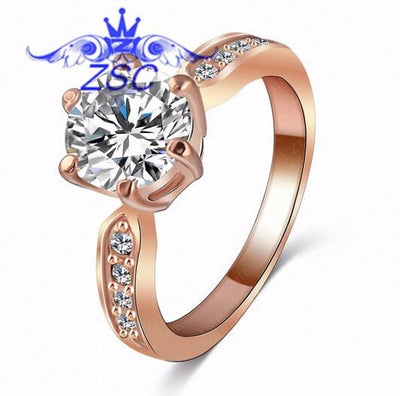 AR61O5XI 18K Rose Gold Plated Austrian Crystal Ring