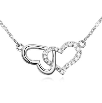 ARTR 925 Sterling Silver CZ Heart Necklace
