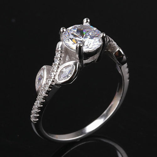 AW7YH 925 Sterling Silver CZ Ring