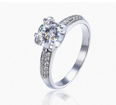 AX4RR 925 Sterling Silver CZ Ring