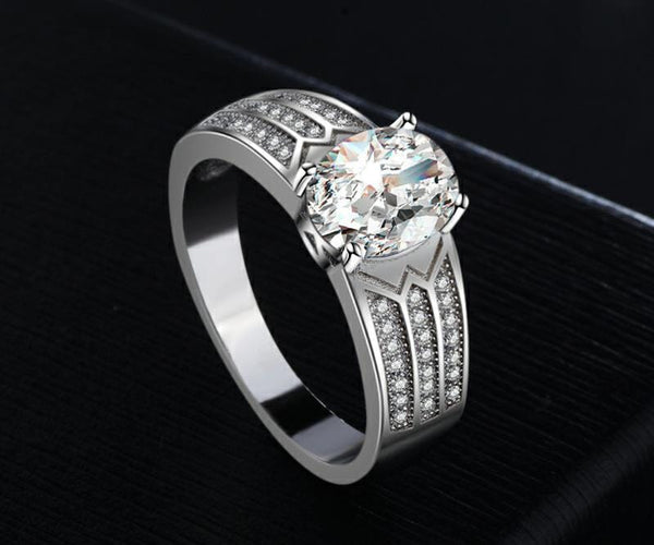 AXW9X 925 Sterling Silver CZ Ring