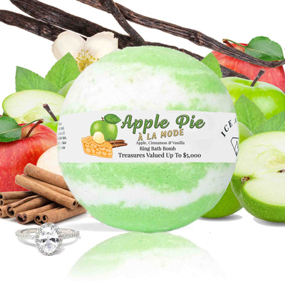 "Apple Pie A La Mode ""MONDO"" Jewelry Bath Bomb (Apple / Cinnamon / Vanilla)"
