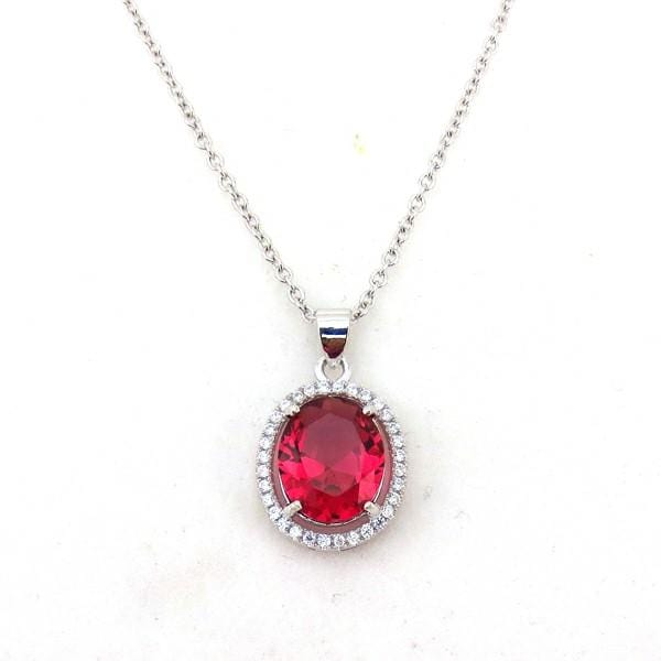 B2AR 925 Sterling Silver CZ Necklace