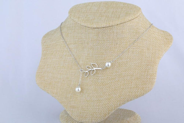 B95X 925 Sterling Silver Pearl Necklace