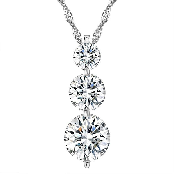 BAJD 925 Sterling Silver CZ Necklace