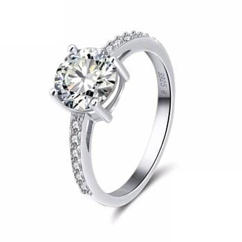 BB4CG 925 Sterling Silver CZ Ring