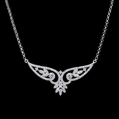 BQYK 925 Sterling Silver CZ Necklace