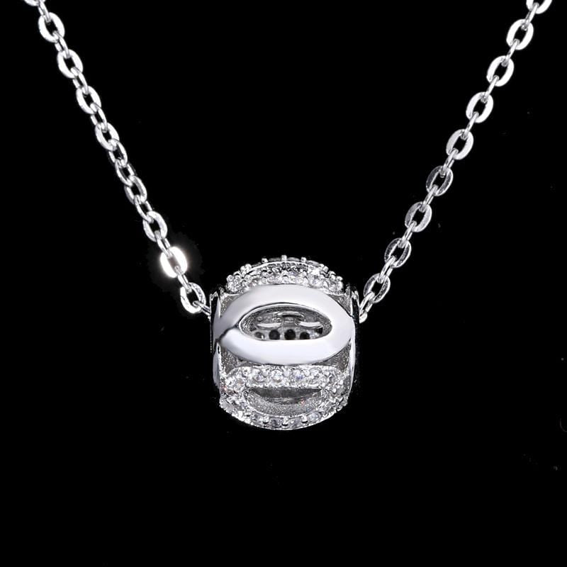 05bc6d4448e7 BW6Y 925 Sterling Silver CZ Necklace
