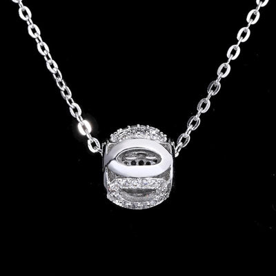 BW6Y 925 Sterling Silver CZ Necklace