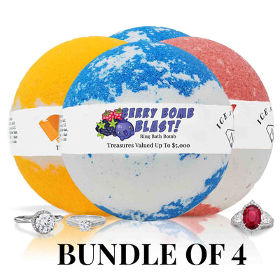 Four Ice N Fire Ring Bath Bombs Bundle