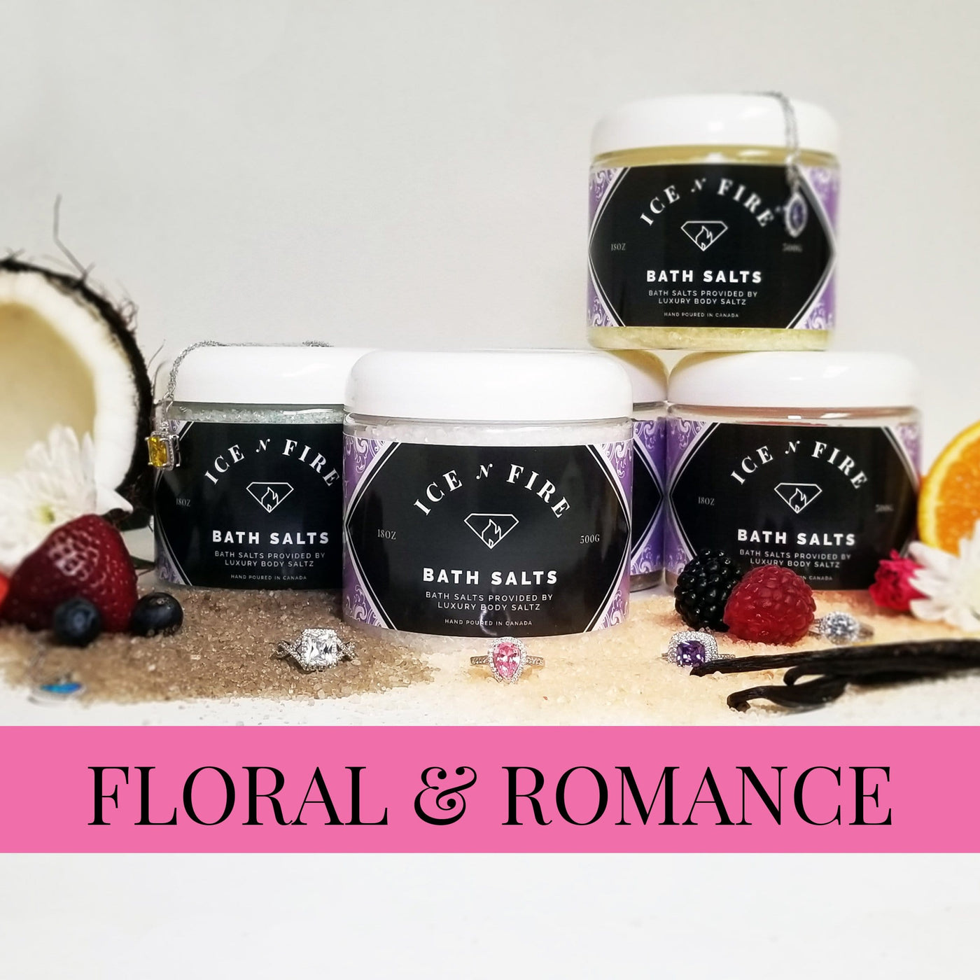 "Sterling Necklace ""Floral & Romance"" Luxury Bath Salts"