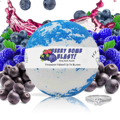 "Berry Bomb Blast ""MONDO"" Jewelry Bath Bomb"