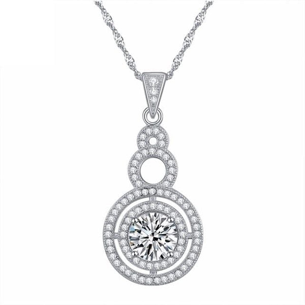 C9UV 925 Sterling Silver CZ Necklace