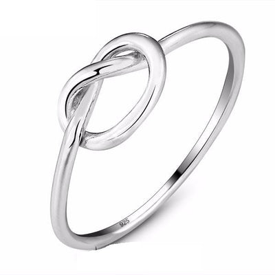 CD7T1FQI 925 Sterling Silver Knot Ring
