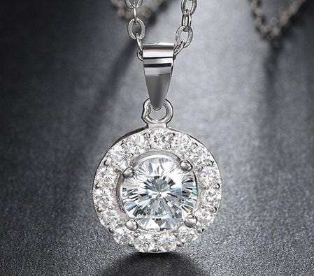 CN9Q 925 Sterling Silver AAA CZ Necklace