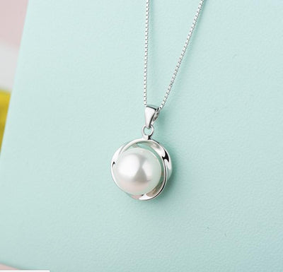 D27G 925 Sterling Silver Pearl Necklace