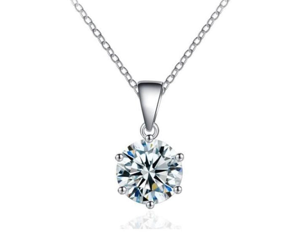 D5FS 925 Sterling Silver CZ Necklace