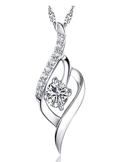 DJYA 925 Sterling Silver CZ Necklace