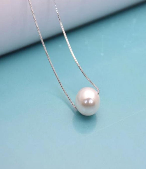 DLRH 925 Sterling Silver Pearl Necklace