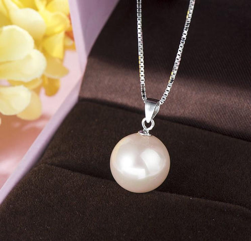 DZ34 925 Sterling Silver Pearl Necklace