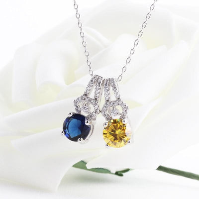 E3XY 925 Sterling Silver CZ Necklace