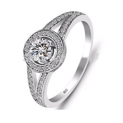 E8IMP9TB 925 Sterling Silver CZ Ring