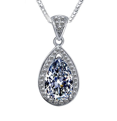 EFBG 925 Sterling Silver CZ Necklace