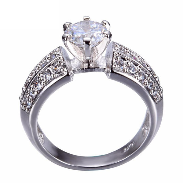EZP8O5ZS White Gold Filled CZ Crystal Ring