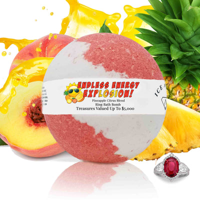 "Endless Energy Explosion ""MONDO"" Jewelry Bath Bomb (Pineapple / Citrus)"