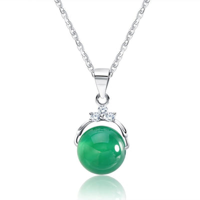 F3VW Sterling Silver Cats Eye Necklace