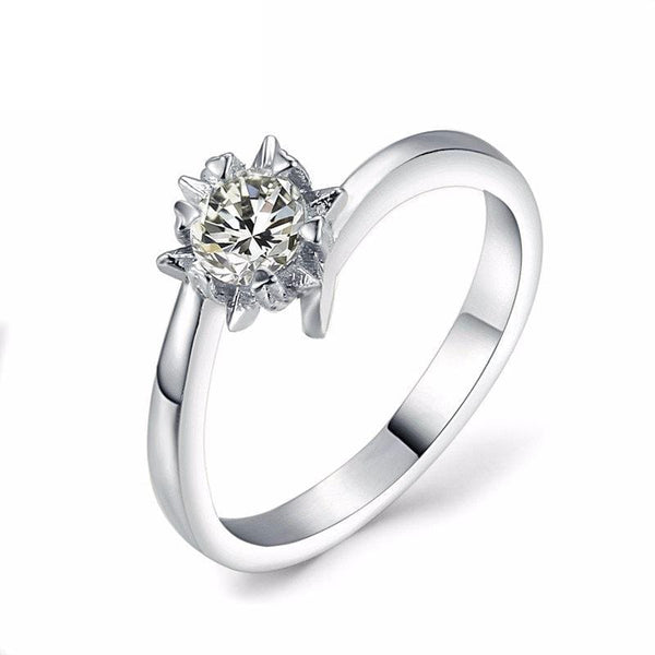 F51WPGO8 White Gold Plated CZ Ring