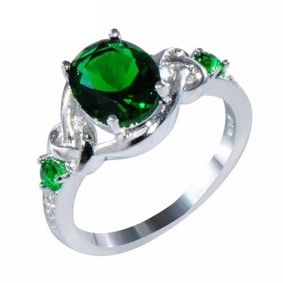 G8JTPDCK White Gold Filled Emerald CZ Ring