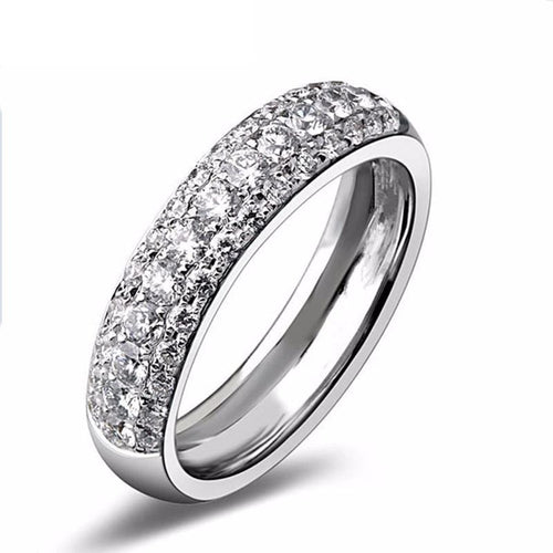 GEXEFRL9 Platinum Plated CZ Crystal Band