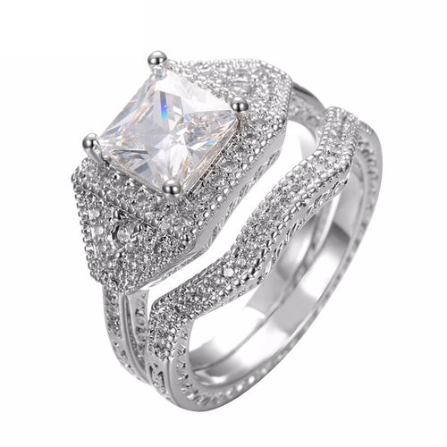 HF6ULFQO White Gold Filled Square CZ Ring