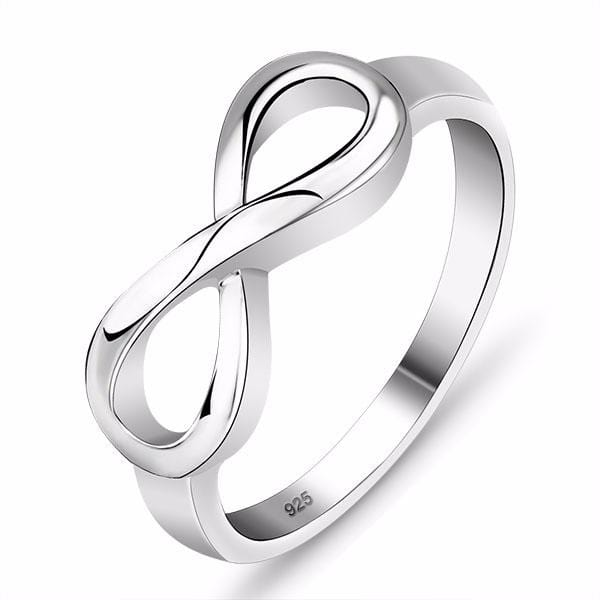 HJ9R28I9 925 Sterling Silver Infinity Ring