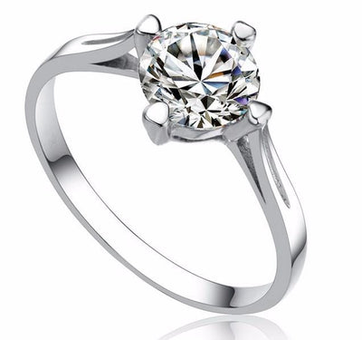 HNQV05VL 925 Sterling Silver CZ Ring