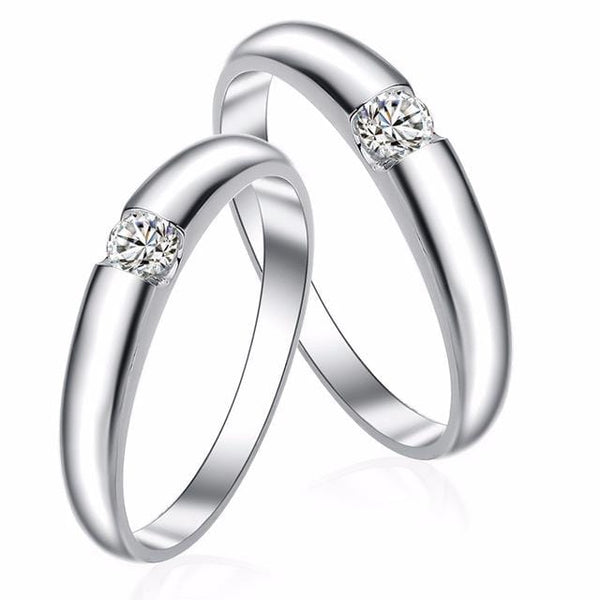 HP0H0SAZ 925 Sterling Silver CZ Gem Band