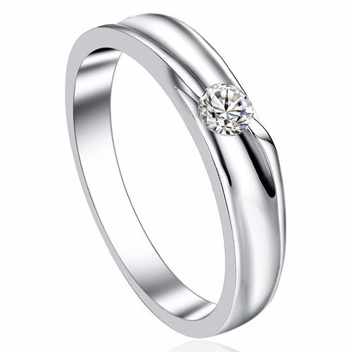 HP1X3HWN 925 Sterling Silver CZ Gem Band