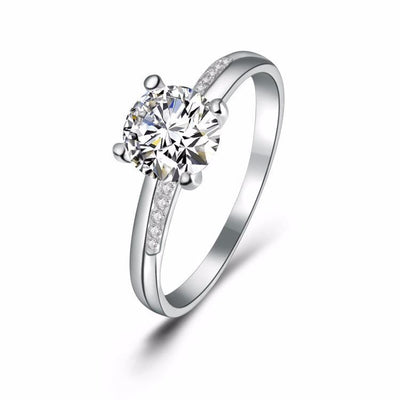 HPXRH17R 925 Sterling Silver CZ Ring